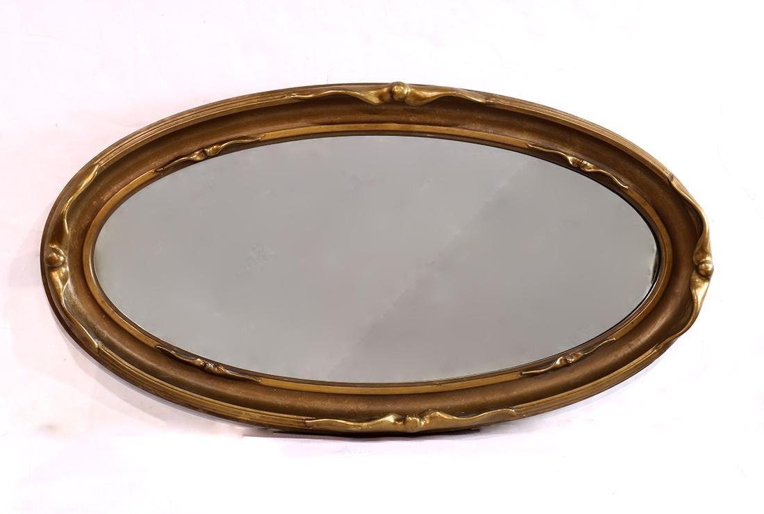 Arts and Crafts pie crust mirror