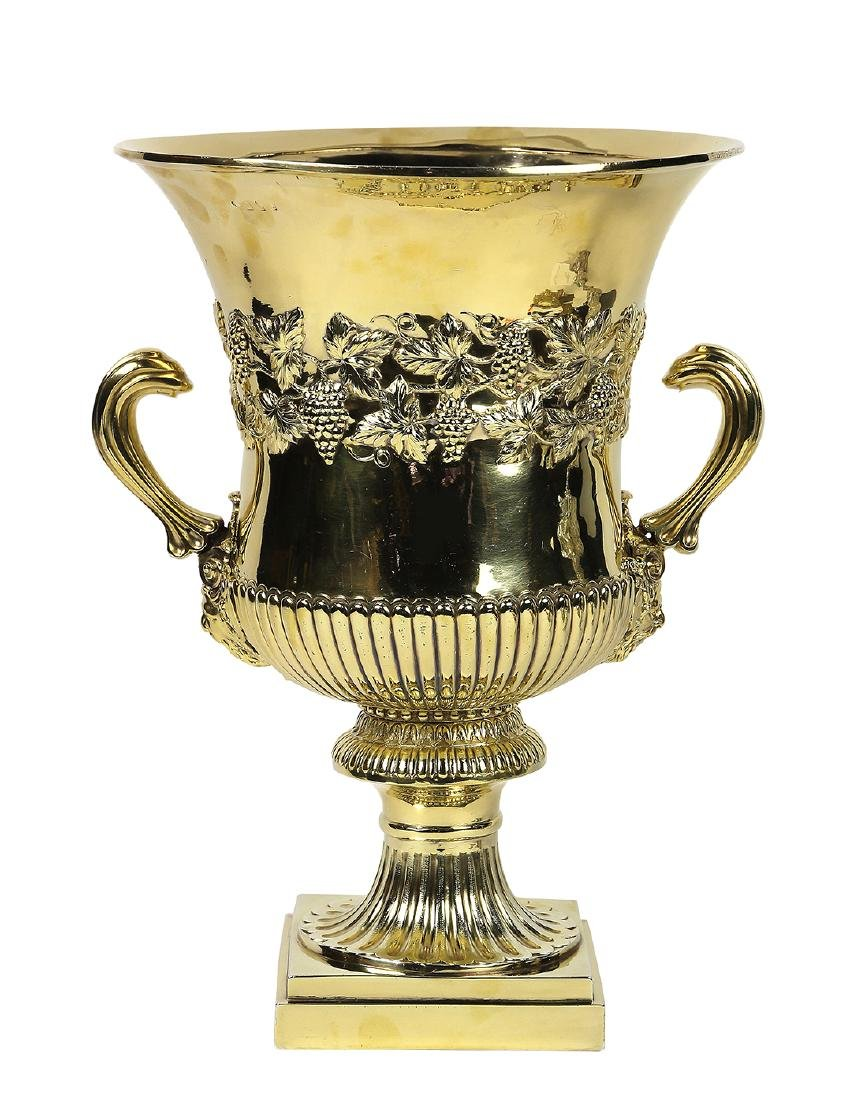 George III gilt sterling silver wine cooler, Dublin,