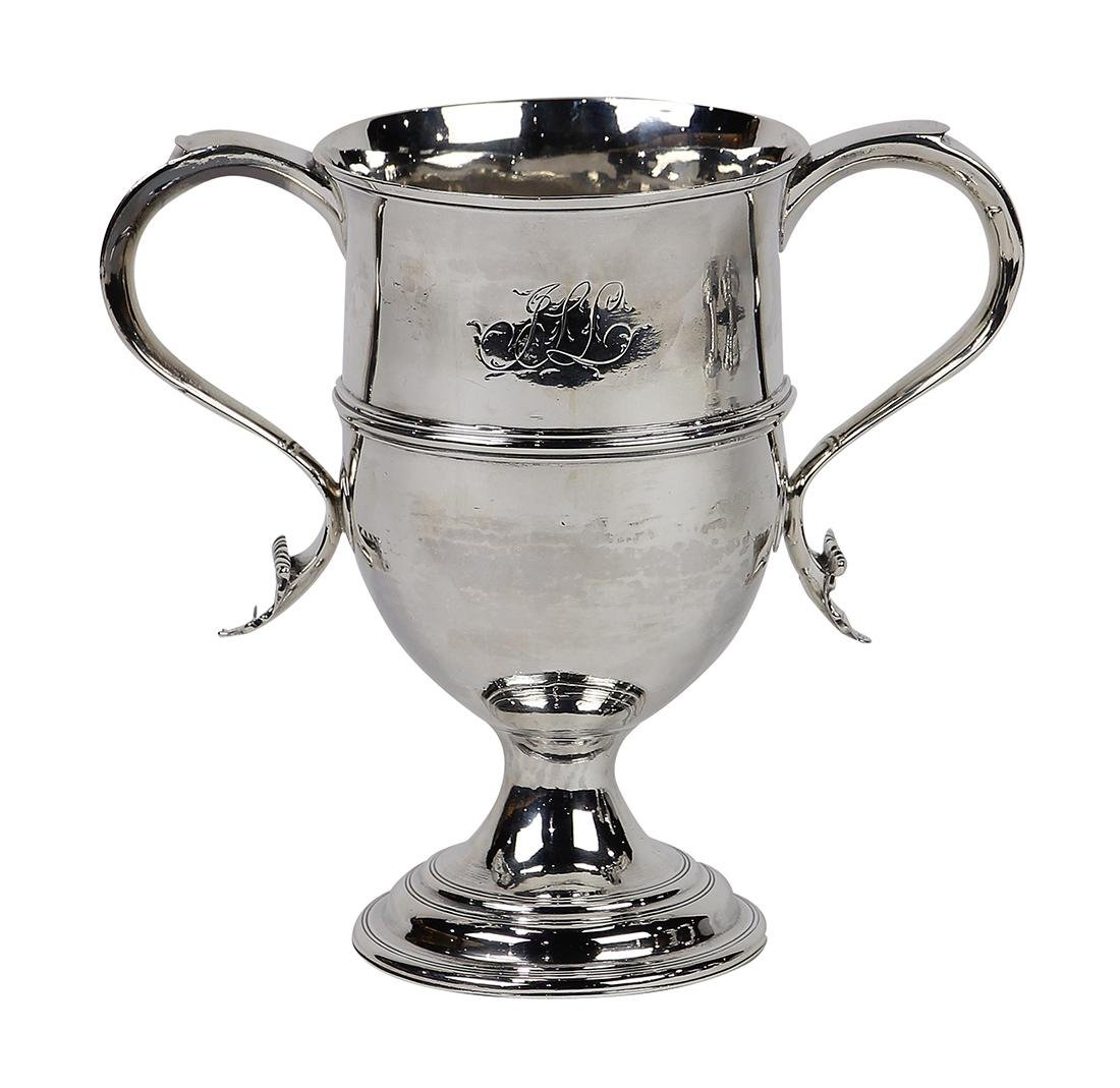 George III sterling silver two-handled loving cup,