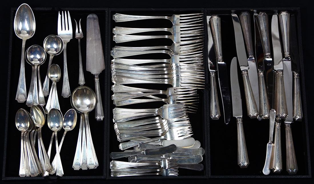 (lot of 89) Gorham sterling silver flatware, executed