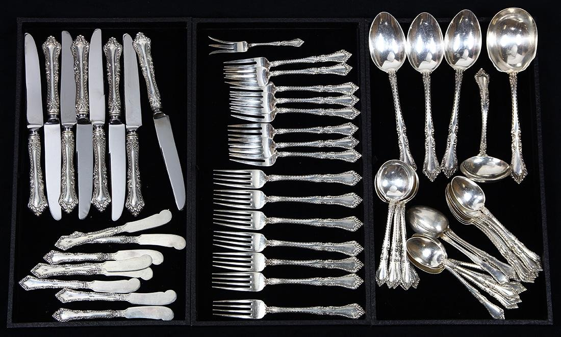 (lot of 60) Watson sterling silver flatware partial