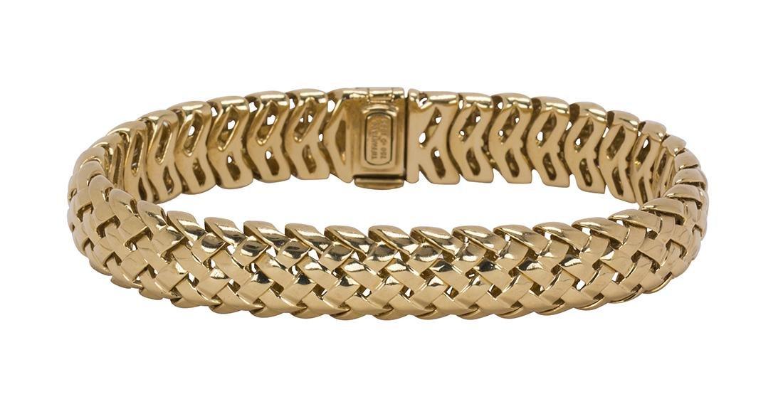 Tiffany & Co. Vannerie 18k yellow gold bracelet