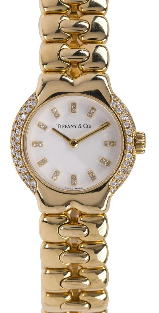 Lady's Tiffany & Co. Tesoro diamond and 18k yellow gold