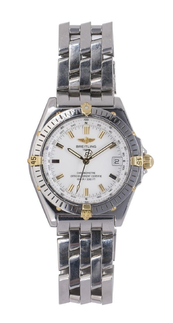 Breitling 1884 two-tone wristwatch, Ref. B10350