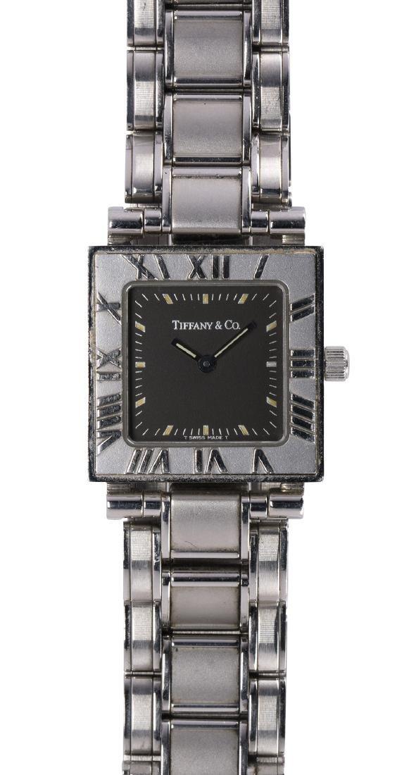Lady's Tiffany & Co., Atlas stainless steel wristwatch