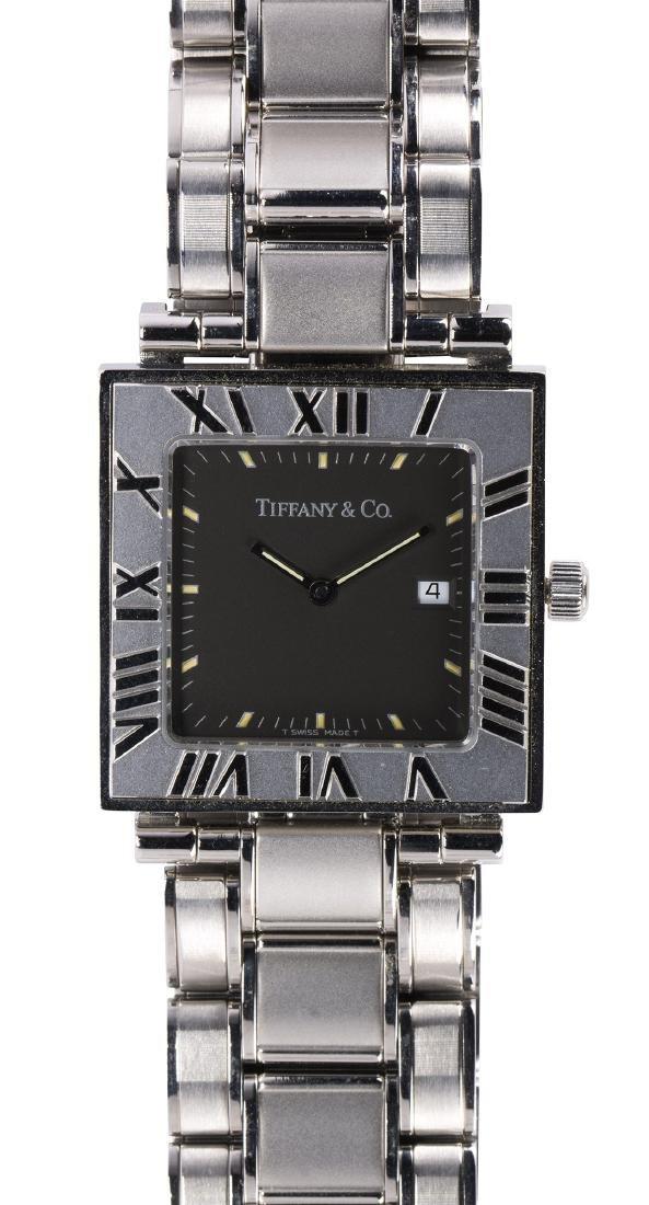 Tiffany & Co. Atlas stainless steel wristwatch