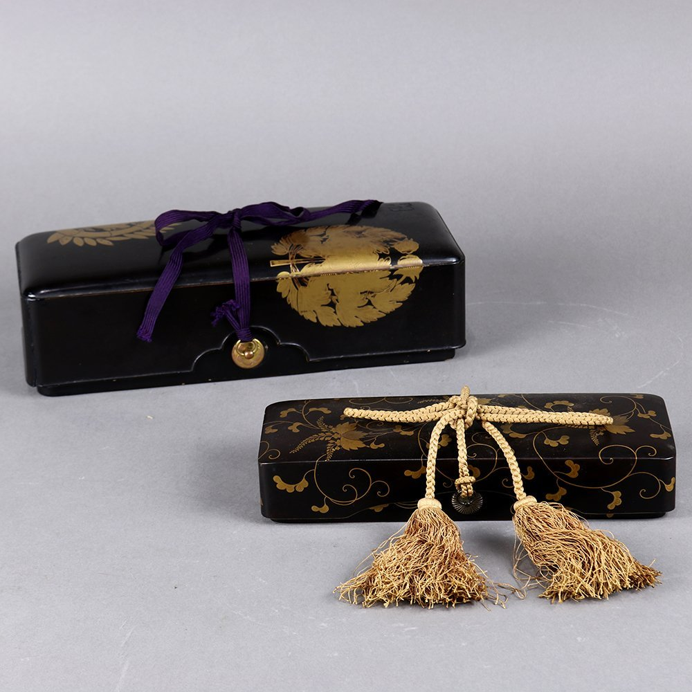 Two Japanese Lacquered Boxes