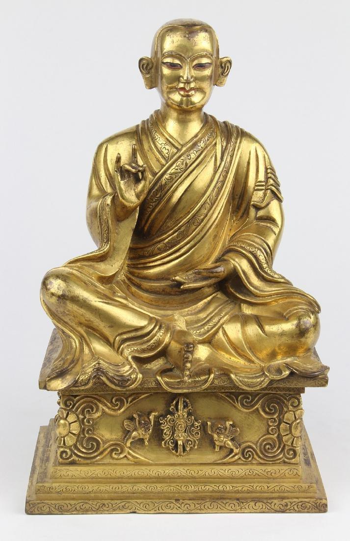 Sino-Tibetan Bronze Lama