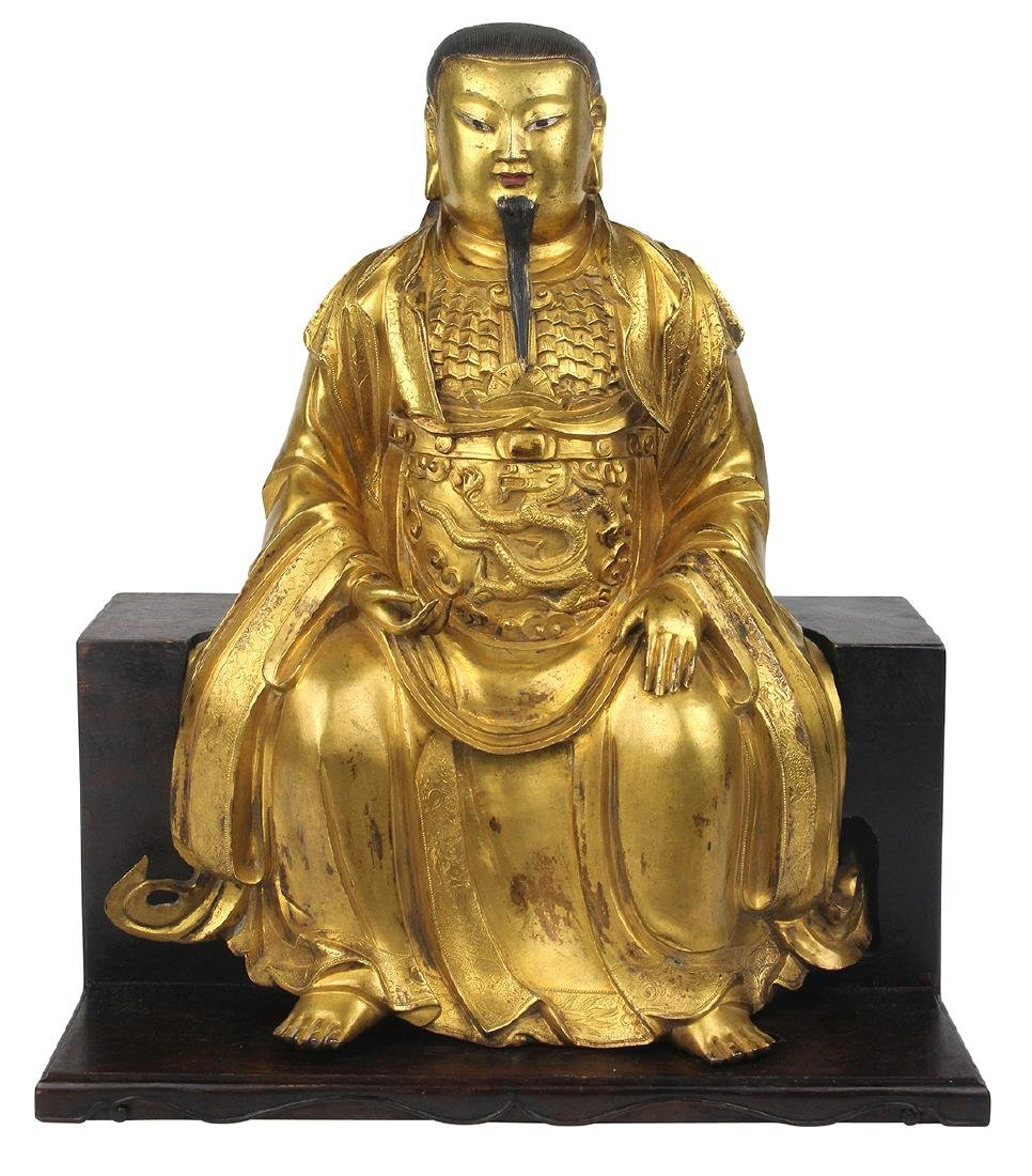 Chinese Bronze Daoist Figure, Zhenwu
