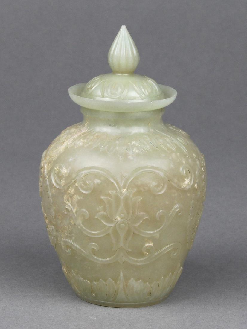 Chinese Mughal-style Hardstone Jar