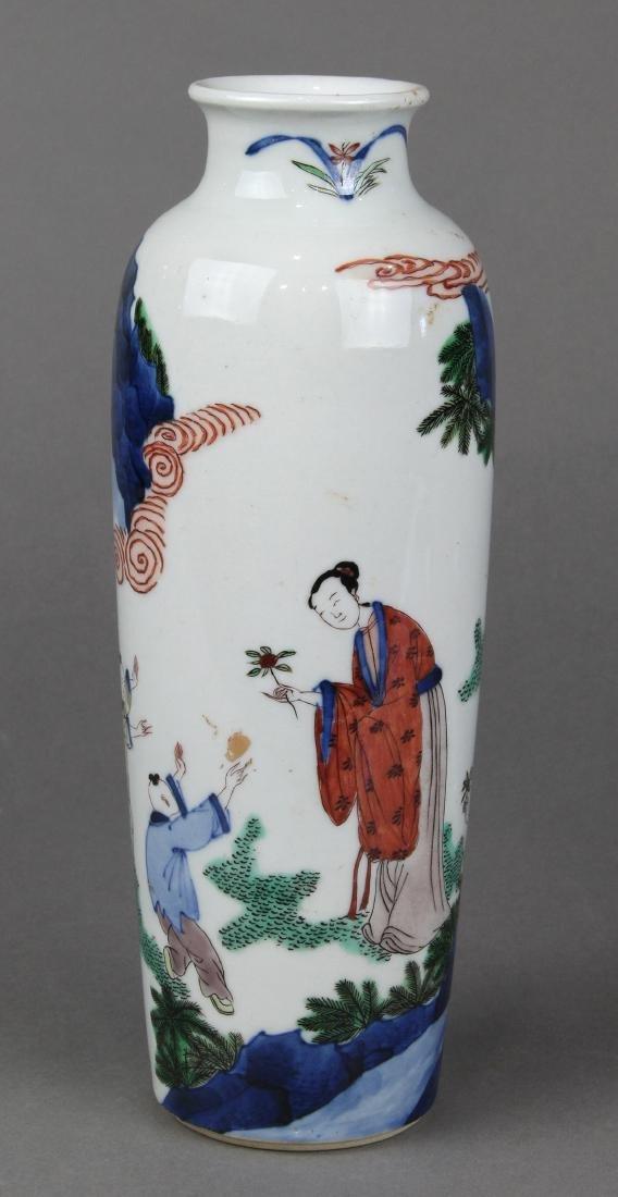 Chinese Wucai Sleeve Vase