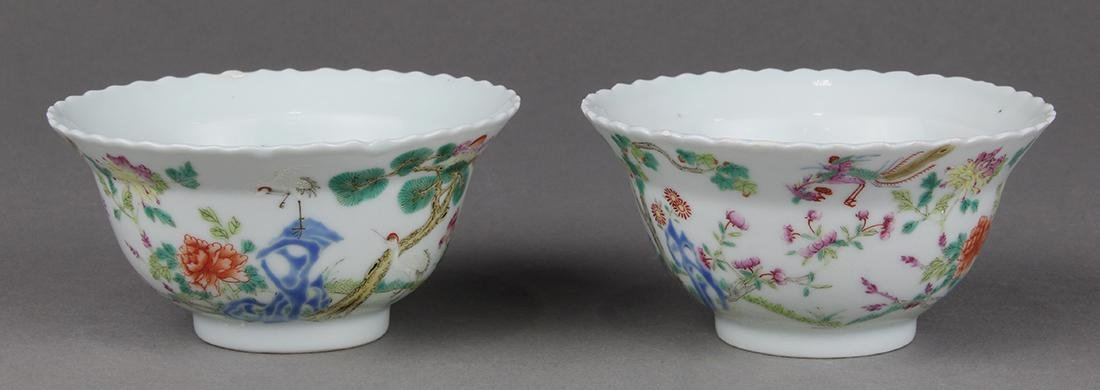 Chinese Porcelain Cups, Birds