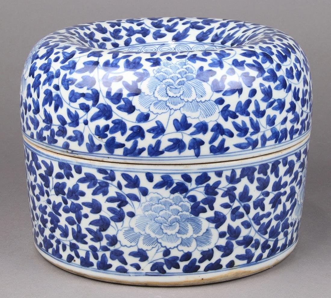 Chinese Blue-and-White Covered Vessel