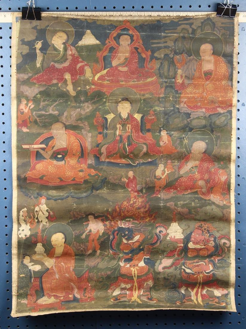 Himalayan Thangka, Buddhist Master