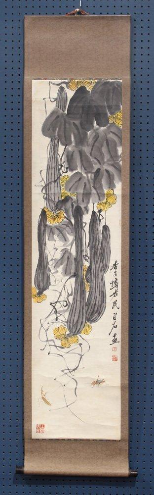 Chinese Scroll, Manner of Qi Baishi, Lufa
