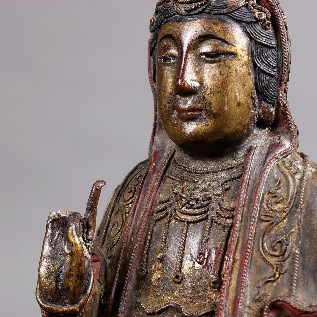 Chinese Lacquer Wood Guanyin