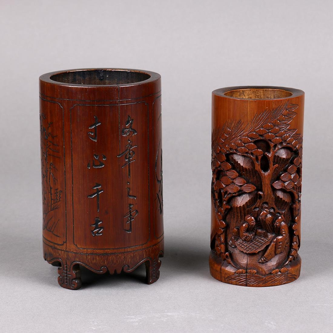 Chinese Bamboo Brush Pots