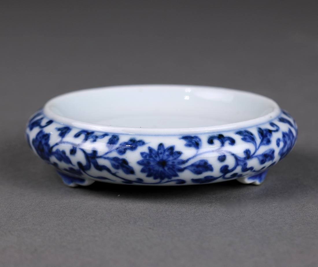 Chinese Underglaze Blue Palette Dish