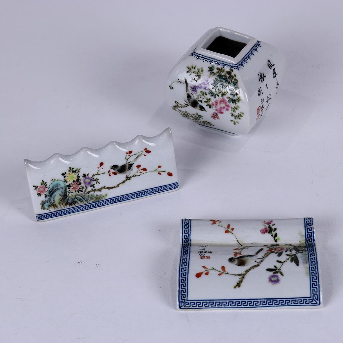 Chinese Porcelain Scholar's Items