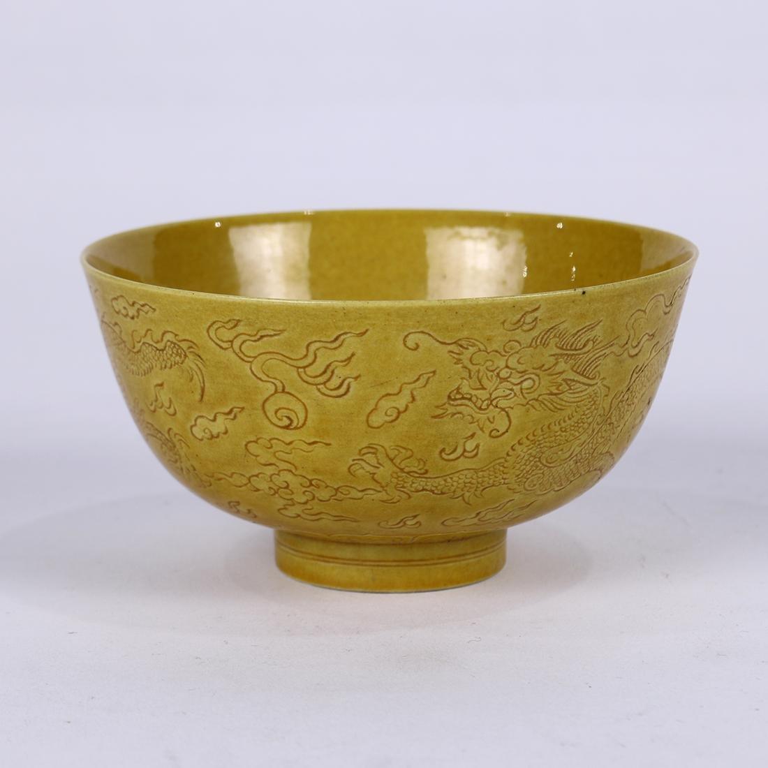 Chinese Yellow Glazed Bowl