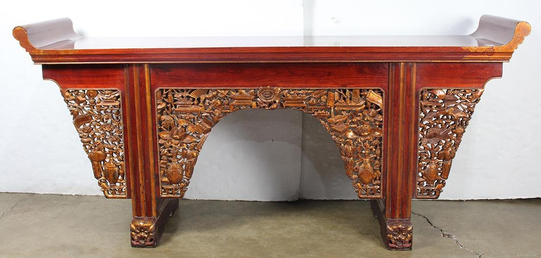 Chinese Lacquered Altar Table