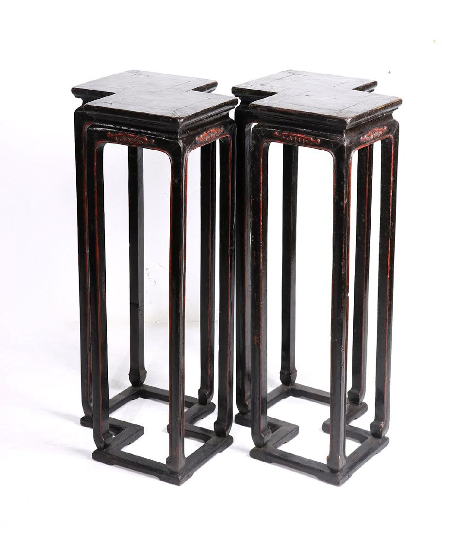Chinese Lacquered Stands