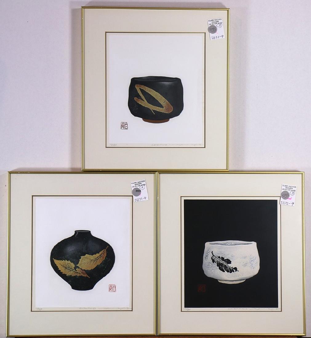 Japanese Modern Woodblock Prints, Maki Haku, Tea Bowl