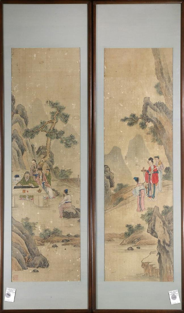 Two Chinese Paintings, Figures