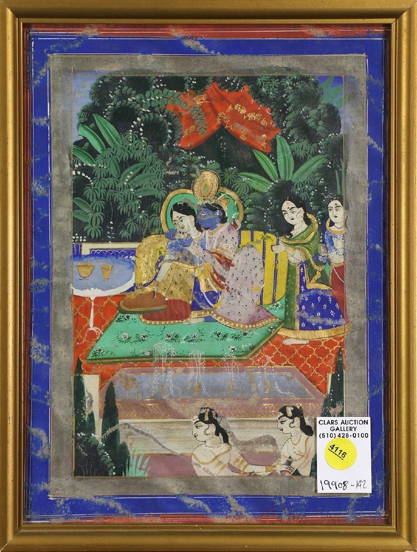Indian Miniature Painting, Krishna