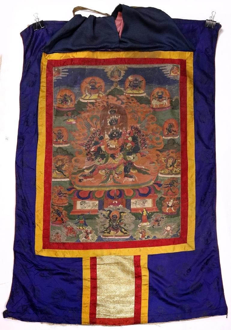 Himalayan Thangka, Multi-headed Mahakala