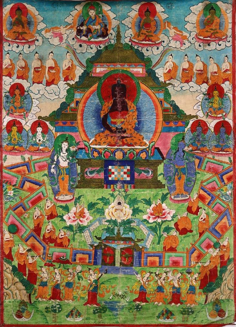 Himalayan Thangka, Shakyamuni