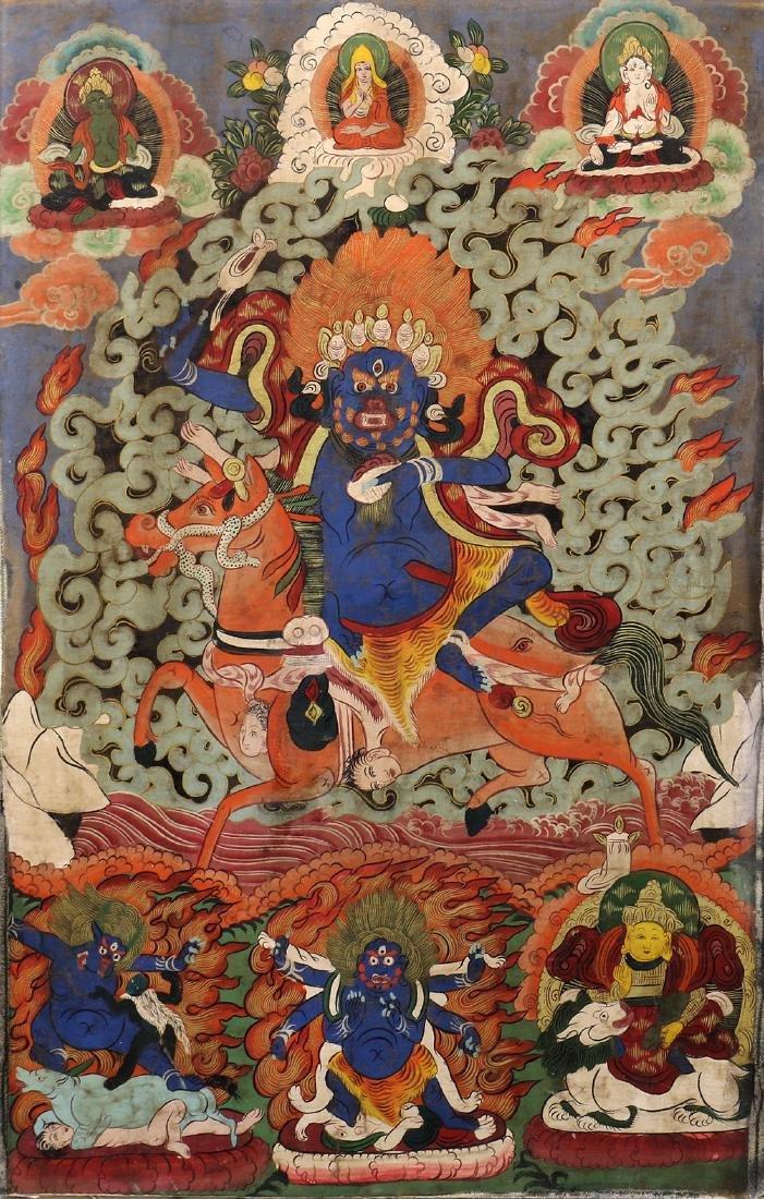Himalayan thangka painting, Mahakala