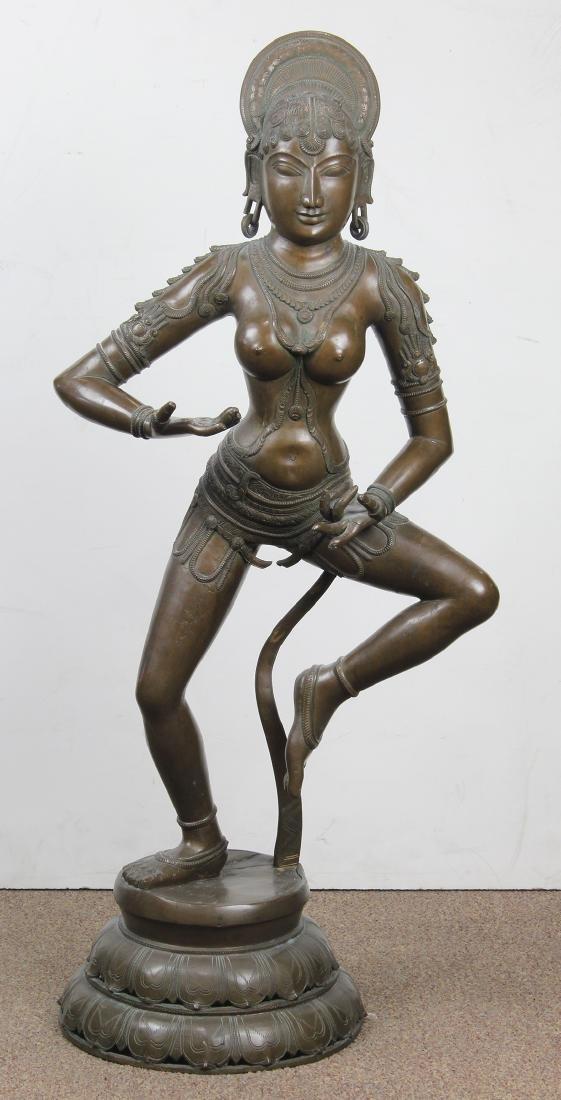 Indian Bronze Dancing Deity