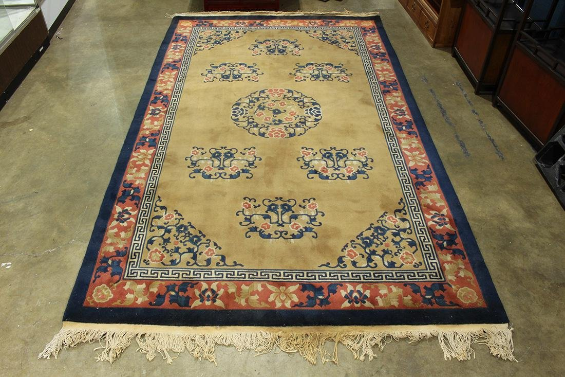 "Chinese Peking style carpet, 10'2"" x 6'"