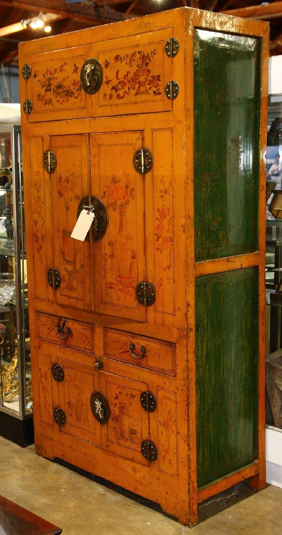 Chinese Yellow Lacquered Cabinet