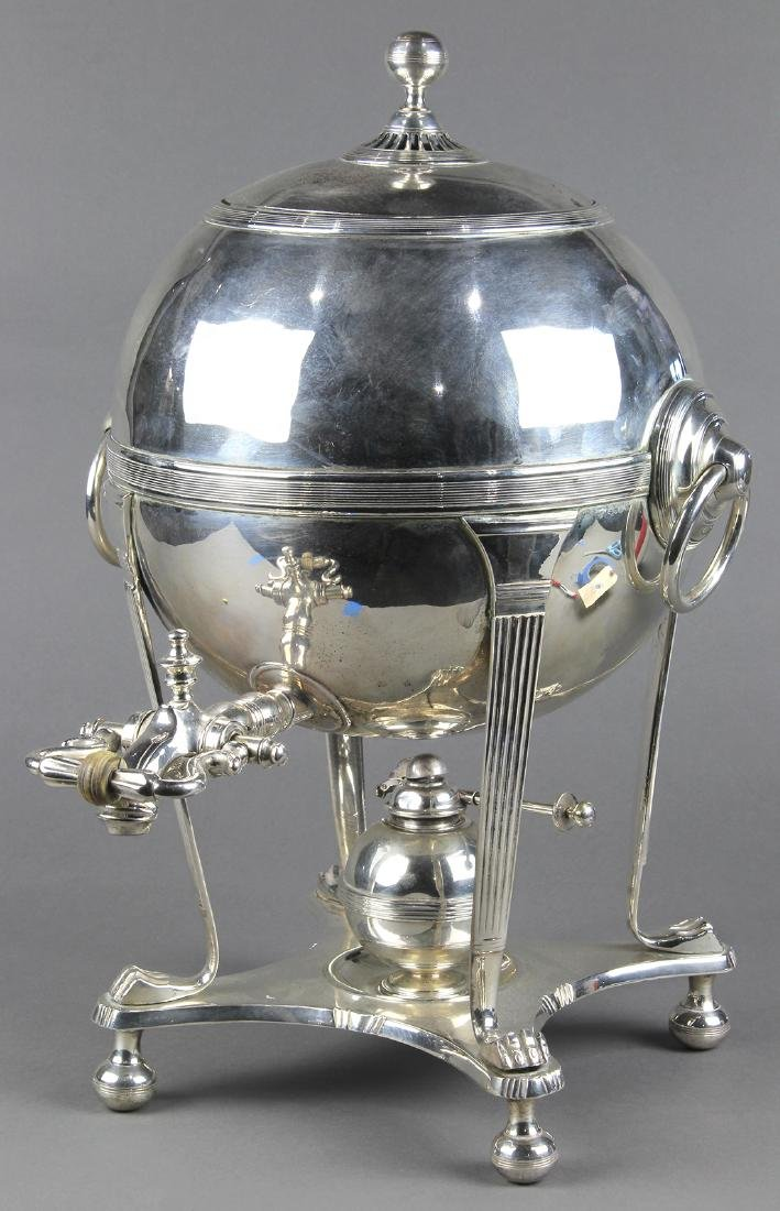 Regency style silver plate hot water urn