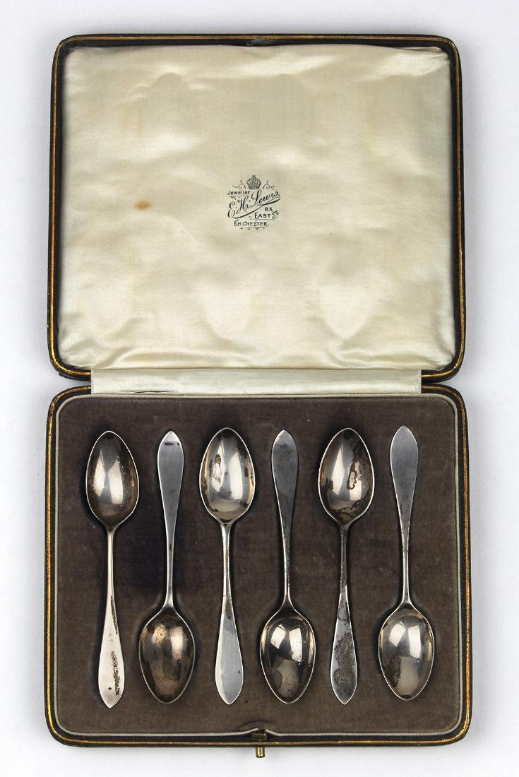 (lot of 6) English sterling silver demitasse spoons