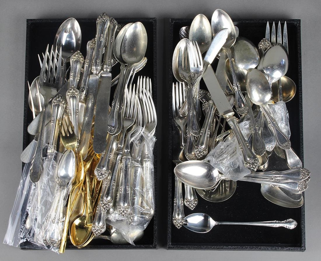 (lot of 50+) Silver plate utensils