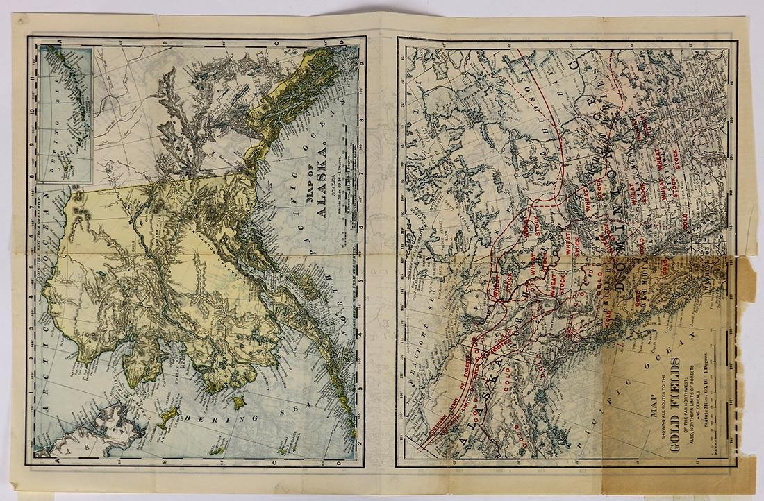 (lot of 2) Pacific Northwest and Alaska map group,