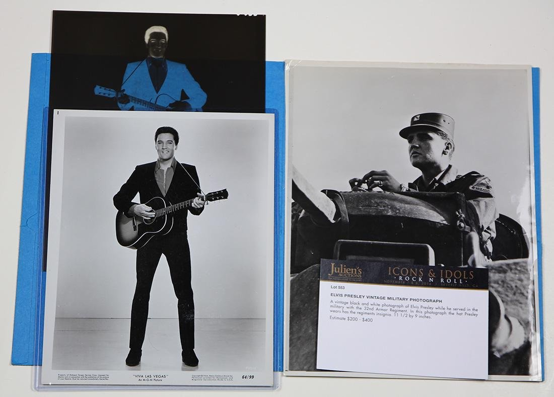 (lot of 3) Elvis Presley photograph group, consisting