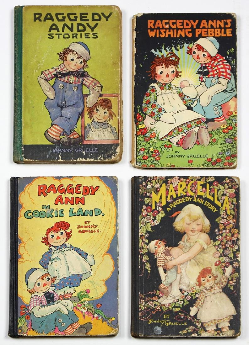 (lot of 4) Raggedy Ann and Andy vintage book group,