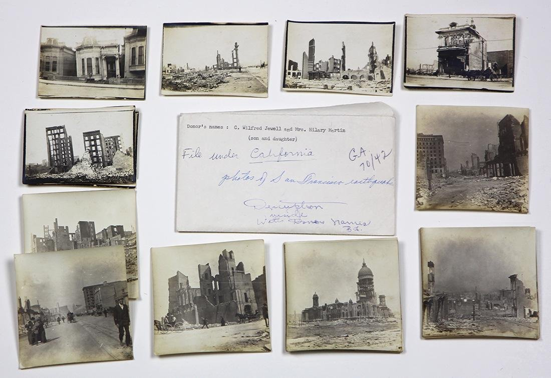 (lot of 24) San Francisco 1906 earthquake photograph