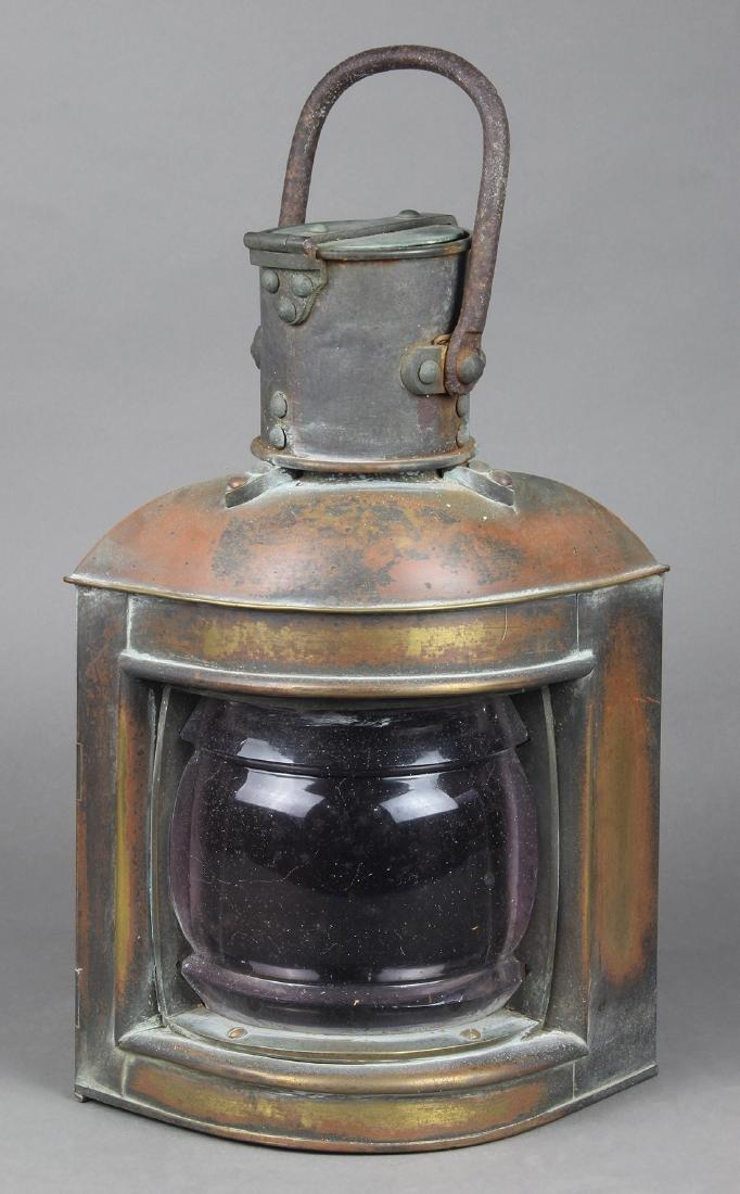 Copper ship's lantern