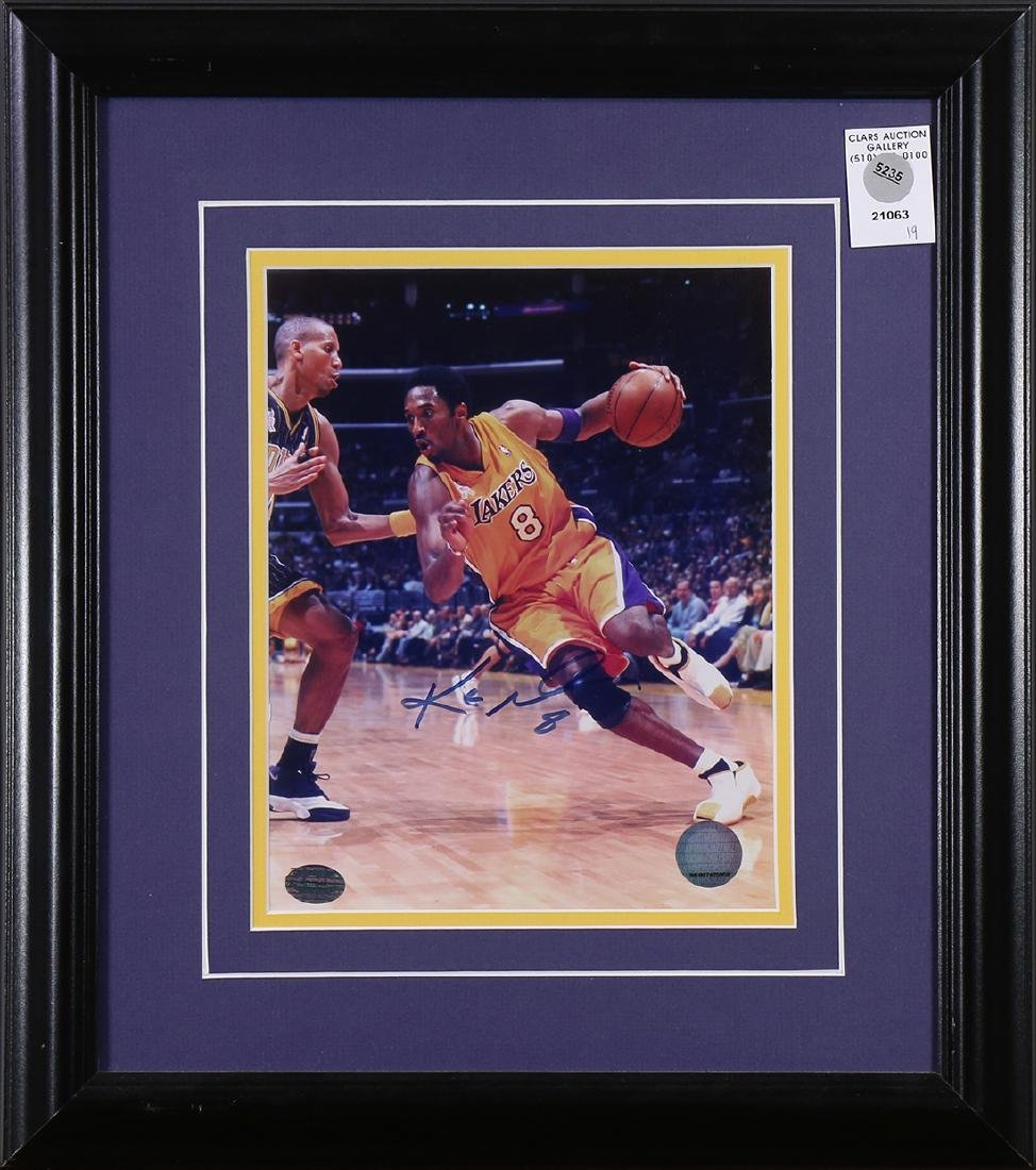 Framed basketball memorabilia
