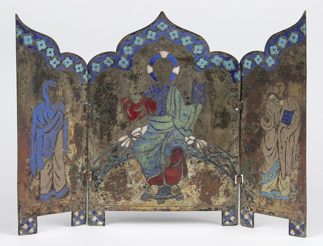 Continental enamel on copper travelling icon