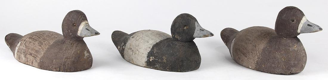 (lot of 3) Duck decoy group