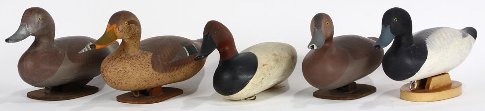(lot of 5) Duck decoy group