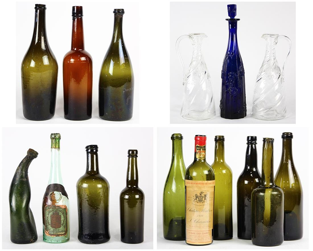 (lot of 16) Glass group, including a blown glass