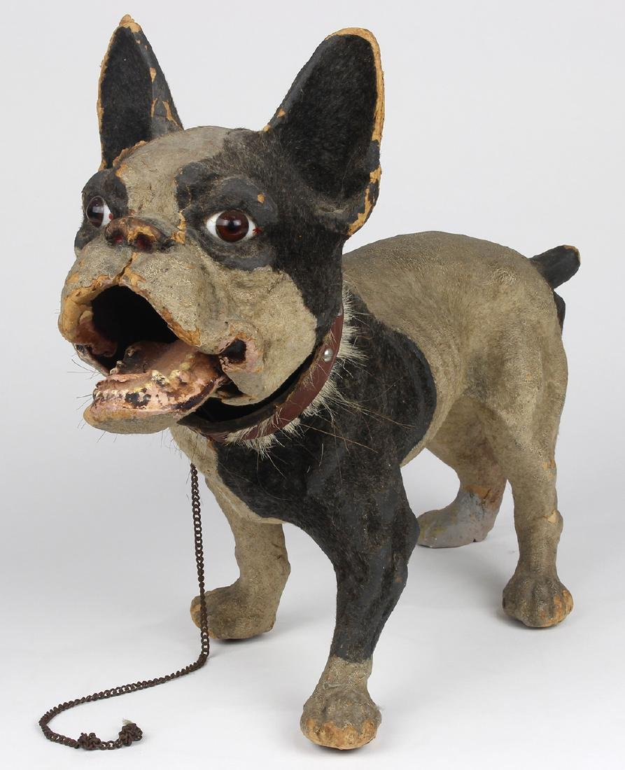 Antique bobble-head French bulldog