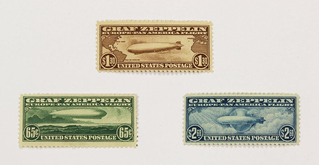 (lot of 3) U.S. 1930 Graf Zeppelin SFT